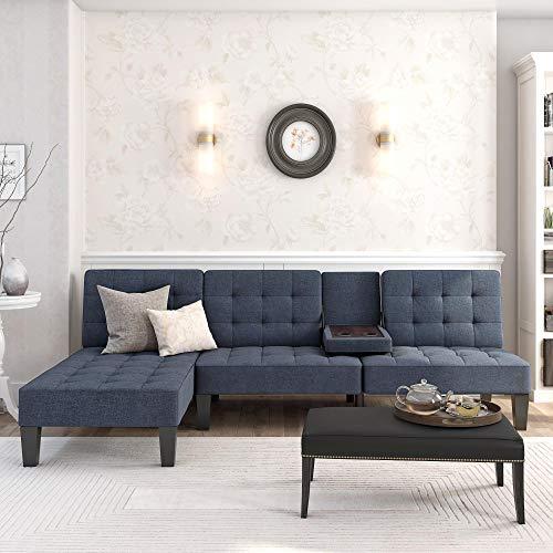 DHP 2027629 Julia Chaise Lounger, Blue Linen