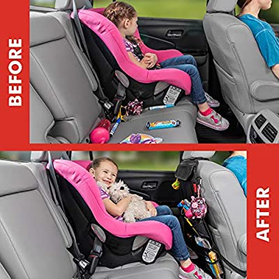 Car Back Seat Organizer with Larger Protection & Storage - 12 Compartments including iPad Holder, Reinforced Corners to Prevent Sag, Eco Friendly Materials - Great Travel Accessory for Kids: Automotive