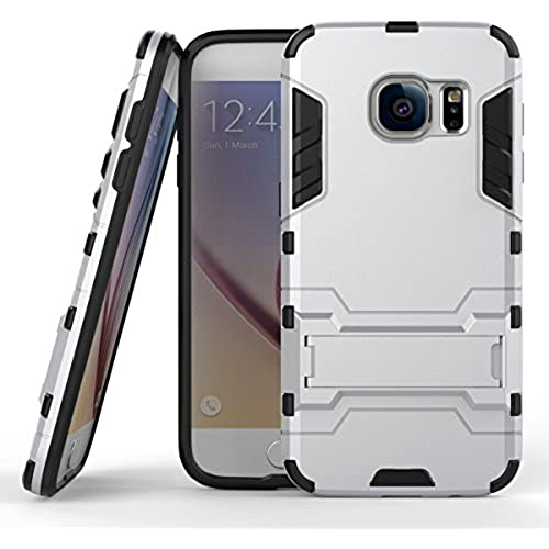 For Galaxy S7 Case Ironman Shockproof Cover Dual-layer Heavy Duty Matte Rugged Protective Cover with Built in Foldable Kickstand for Samsung Galaxy Sales