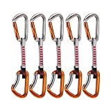 Mammut 5-er Wall Key Lock Express Set silver/orange Straight Gate/Bent Gate 10 cm