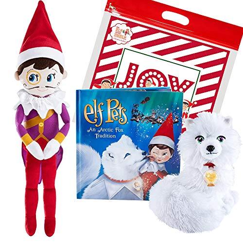 [해외]The Elf on the Shelf Elf Pets Arctic Fox Tradition and 18 Joe The Elf Plushee Pal Snuggler with Exclusive Travel Bag / The Elf on the Shelf Elf Pets Arctic Fox Tradition and 18 Joe The Elf Plushee Pal Snuggler with Exclusive Travel...
