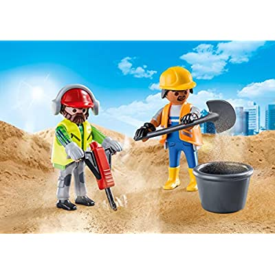 PLAYMOBIL Construction Workers 70272 Figures Duo Pack: Toys & Games