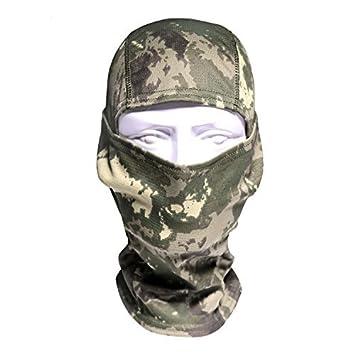 Camuflaje pasamontañas máscara capucha Headwear caza Ninja ...