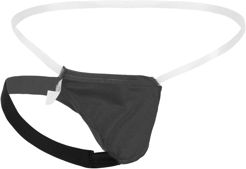 Yeahdor Herren Mini String Tanga Slip Bulge Pouch mit Durchsichtigem Bund Erotische Dessous Unterhose Erotiek Kost/üme