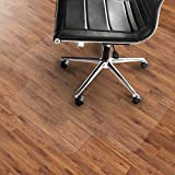 Office Marshal PVC Chair Mat with Lip - 46'' x 54'' - Hard Floor Protection | Multiple Sizes Available | Clear/Transparent