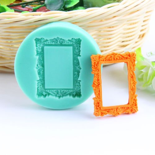 Silicone Baby Shell Mold Dog Bone Fondant Cake Chocolate Mould Suger Baking Tool - Photo Frame - Red Heart Lollipops