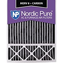 Nordic Pure 20x25x5LXREDPM8C-2 Lennox X6673_X6675 Replacement MERV 8 Pleated Plus Carbon Filter (2 Pack)
