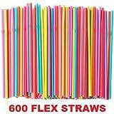 Ikea Soda Straws Flexible (600 Pack)