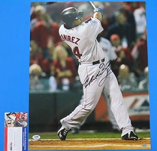 Manny Ramirez Autographed Signed 16x20 Photo Baseball Autograph Red Sox PSA/DNAF43869