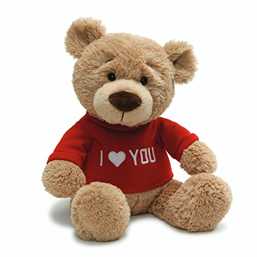 Gund Valentine's Day Love You T-Shirt Message Bear Plush Stuffed Animal, 7.5