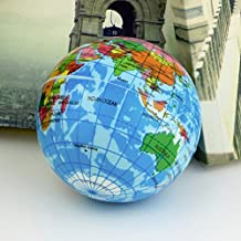 World Map Foam Earth Globe Stress Relief Bouncy Ball Atlas Geography Toy Th092 Hot Ing-