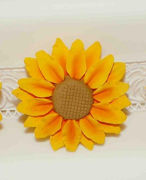 Torte Matrimonio Girasoli : Zucchero di girasole medium decorazioni per torte pasta di gomma