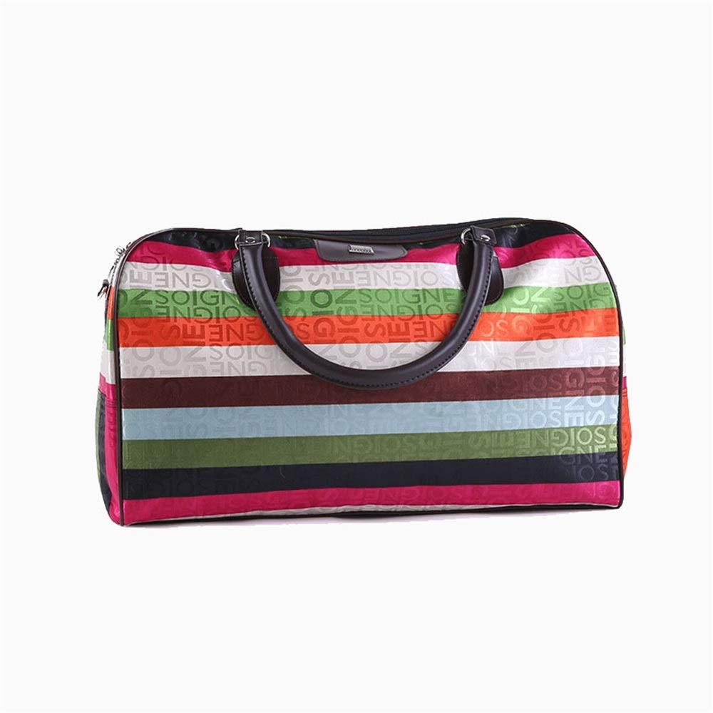 Ybriefbag Unisex Stripe Travel Bag Outdoor Travel Sports Bag Large-Capacity Handbag Travel Fitness Bag Multifunctional Travel Bag Vacation