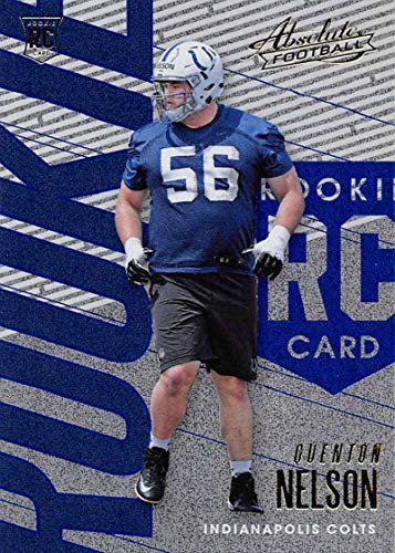 2018 Absolute Football Spectrum Blue #147 Quenton Nelson Rookie Indianapolis Colts Official NFL Trading Card made by Panini Panini NFL
