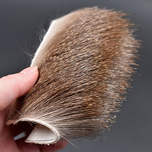 2 pcs Deer Body Long Thick Fur Size:8cm8cm Elk Body Hair For Dry Flies Fly Tying Materials (Fly Hair Deer Tying)