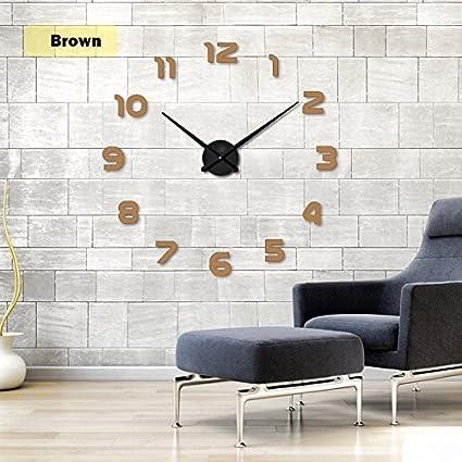 Wall Clock 2019 New Clock Watch Horloge 3D DIY Acrylic Mirror Stickers Home Decoration Living Room