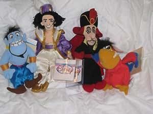 Amazon Com Disney Aladdin Mini Bean Bag Plush Set
