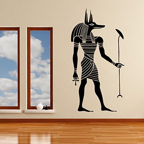 azutura Egyptian Anubis Wall Sticker Ancient Egypt Wall Decal Bedroom Living Home Decor available in 5 Sizes and 25 Colours Medium Royal Blue