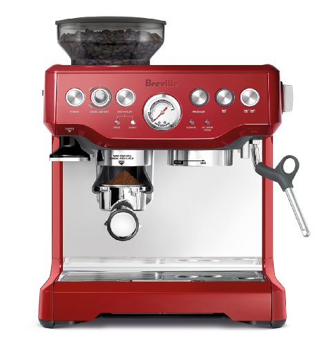 (Breville BES870CBXL The Barista Express Coffee Machine, Cranberry Red )