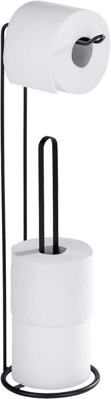 Wenko 23712100 Porte Papier WC Noir 15,5 x 54 cm