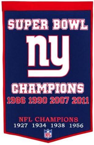 NFL New York Giants Super Bowl Champions Banner
