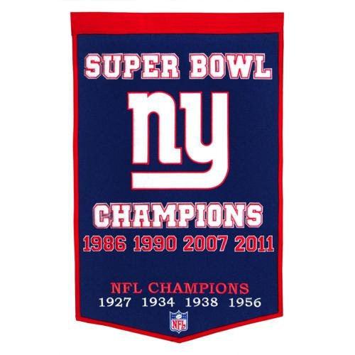 - New York Giants Super Bowl Championship Dynasty Banner - with hanging rod