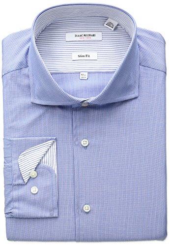isaac-mizrahi-mens-slim-fit-fine-stripe-cut-away-collar-dress-shirt-blue-165-neck-34-35-sleeve