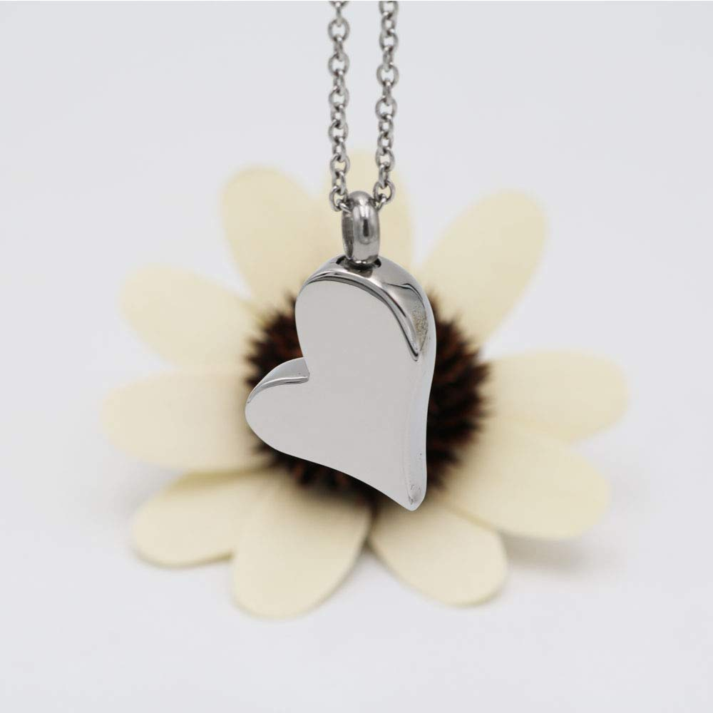 Always in My Heart Cremation Jewelry for Human Ashes Keepsake Urn Necklace of Loved One Memorial Ash Jewellery