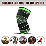 3D Pressurization Weaving Knee Pads,Winnes Outdoor Sports Pressure Knee Pads Knee Brace Knee Sleeve with Adjustable Compression Straps for Men Sportor,Joint Pain and Arthritis Relief-2 Pack