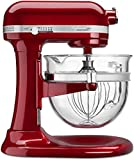 KitchenAid Professional 6500 Design Series Candy Apple Red Bowl-Lift Stand Mixer with 6 Quart Glass Bowl