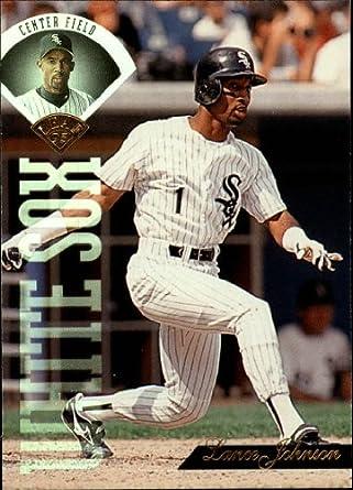Amazoncom 1995 Leaf Baseball Card 200 Lance Johnson Collectibles