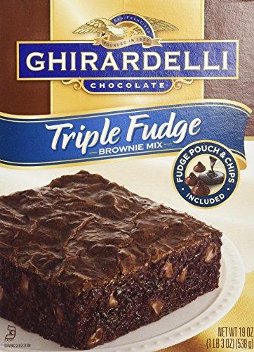 Ghirardelli Triple Fudge Brownie Mix (2 (Chocolate Chip Walnut Brownies)