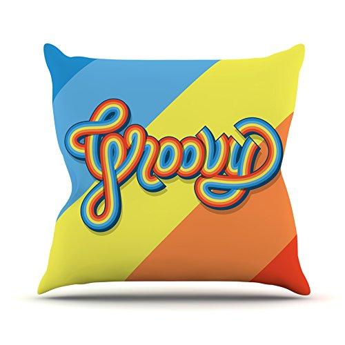 Groovy Garden Pillow (KESS InHouse Roberlan