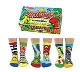 Sockasaurus Box of 6 Oddsocks for Boys US 9.5-13