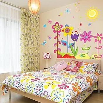 Amazon.com: RoomMates RMK1279GM Gerber Daisies Peel & Stick Giant ...