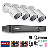 ANNKE 8CH 1080P HD-TVI H.264+ Video DVR Security Camera System and (4) 1920TVL 2.0MP Weatherproof Security Cameras with Smart Search/Playback For Sale