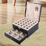 AUTOARK Jewelry Box Organizer Holder,3 Layer with 1