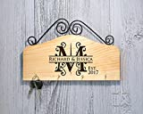 Personalized Key Hook Key Holder - Initial