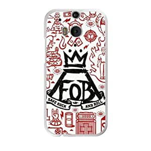 Fall out boy C0C6VX1R Caso funda HTC One M8 Caso funda del teléfono celular blanco
