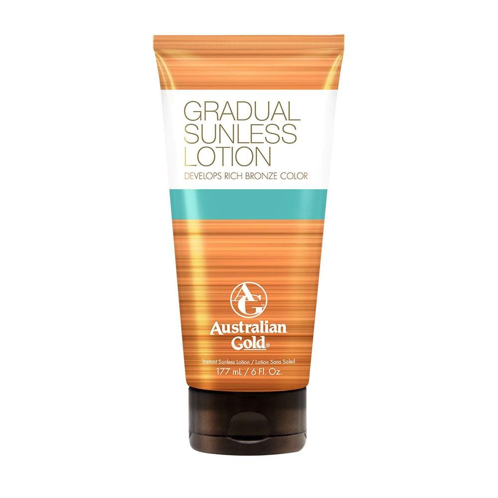 Australian Gold Gradual Sunless Tanning Lotion, 6 Ounce | Rich Bronze Color with Fade Defy Technology | Energizes & Softens Skin