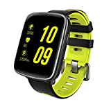 GFT GV68 Smart Watch with 1.54 inch TFT HD LCD Display and Silicone Strap,Support Ver 4.0 Bluetooth IP68 Waterproof Bluetooth Smartwatch Compitable for iOS and Android Smartphones (Green)