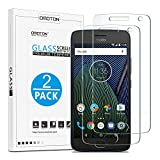 OMOTON Moto G5 Plus Screen Protector, [2 Pack] Tempered Glass Screen Protector with [Scratch Resistant] [Crystal Clear] [Bubble Free] for Motorola G Plus 5th Gen [5.2 Inches],NOT fit Moto G5s Plus