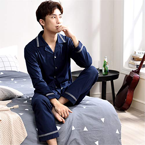 Successg Pijama Noche Manga Algodón Moderno Ropa Otoño De 96389 Sexy Suave Hombres Cosida Larga Pijamas Estilo Para rrqBd