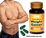 Ayurleaf Weight Gainer - Men's Weight Gain Formula. Mass Gainer Gain weight pills for men - 1, 2, 3 or 4 Bulk Packs - Helps skinny men gain body mass. Fast Weight for Men. (One Single Bottle)
