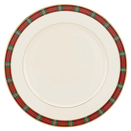 Lenox Winter Greetings Plaid Dinner Plate