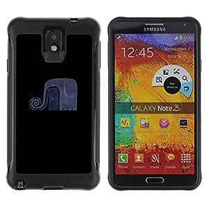 "Hypernova Defender Series TPU protection Cas Case Coque pour SAMSUNG Galaxy Note 3 III / N9000 / N9005 [Elefante divertido minimalista""]"