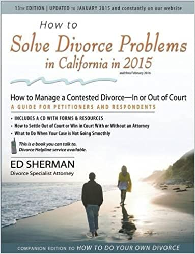 How to solve divorce problems in california in 2015 how to manage a how to solve divorce problems in california in 2015 how to manage a contested divorce in or out of court ed sherman 9780944508985 amazon books solutioingenieria Image collections