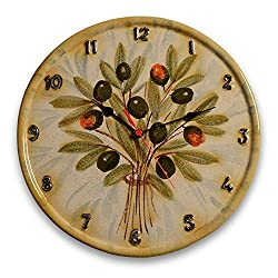 Italian Dinnerware - Wall clock - Handmade in Italy from our Extra Virgin Collection
