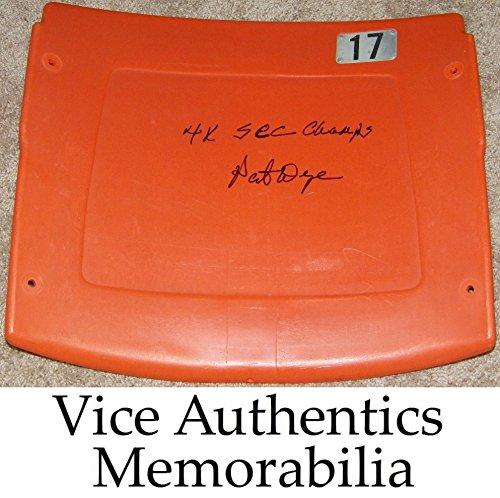 Pat Dye Signed Autographed Auto Auburn Tigers Jordan Hare Stadium Seatback w/4x SEC Champs - Proof