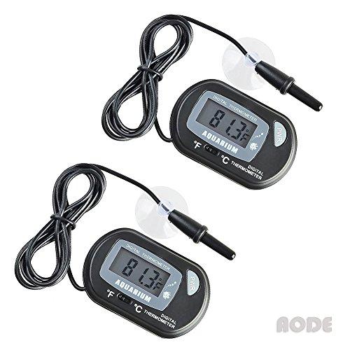 AODE® (2-Pack, Black) Digital LCD Fish Tank Aquarium Thermometer 600009 - Digital Aquarium Thermometer Fish